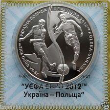 EURO 2012 POLAND-UKRAINE 2 Puzzle Coins Proof 2Oz Silver FIFA World Cup Football