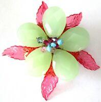 Beautiful Vintage Pin & Green Flower Pin