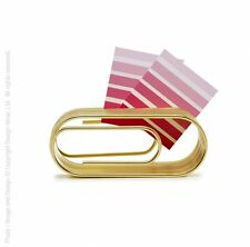 Design Ideas BRASS Clip Note Giant Paper Clip Shaped office organizer 3201036