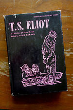 Hugh Kenner: T.S. Eliot A Colledctions of Critical Essays first edition