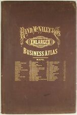 Original 1891 Rand McNally LARGE BUSINESS ATLAS States Cities Countries 93 Maps