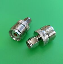 (1 PC) SMA Male to UHF Female Connector - USA Seller