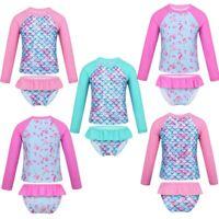 Girls Swimsuit Swimwear Printed Bathing Suit Set Child Summer Beachwear Tankini