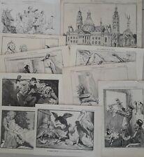 10 spotprenten uit De Nederlandsche Spectator 1879 & 1905-1906