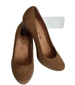 New Unisa Leather Brown Leather Platform Smart Shoes Size 6