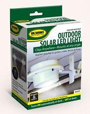 Solar Powered Fence Gutter Light Outdoor Garden Yard Wall Pathway Lamp 3 LED