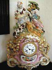 PENDULE ANCIENNE PORCELAIN OLD PARIS 1820;MANTLE CLOCK,NAPOLEÓN.MUSEUM VACHERON
