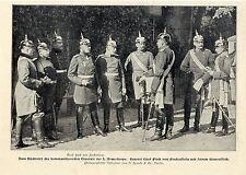 General Graf Finck von Finckenstein 1.Armeekorps in Königsberg Rücktritt 1901