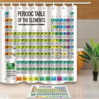 Periodic Table of Elements Chart Chemistry Design Fabric Shower Curtain 71Inch