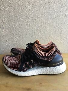 Adidas Ultra Boost X Women's SZ 8 Black Orange Athletic Sneakers  BA8278 Pre-Own
