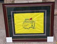PHIL MICKELSON SIGNED AUTOGRAPHED MASTERS GOLF FLAG - 2006 - CUSTOM FRAMED - JSA