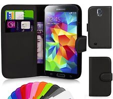 BLACK WALLET Leather  Case Phone Cover for Samsung Galaxy S5 Mini G800F G800H