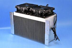 """Ametek Rotron Two-Fan Heat Sink Exchanger 10.5"""" x 6"""" Active Area. Huge!"""