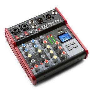 Power Dynamics PDM-X401 Music Mixer 4-CH with Bluetooth / USB MP3