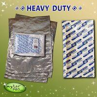 5 6 Gallon Mylar Pro Bags 20x30 + 2000CC Oxygen Absorbers Long Term Food Storage