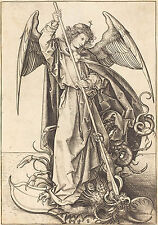 Martin Schongauer Reproduction: St Michael Slaying the Dragon - Fine Art Print