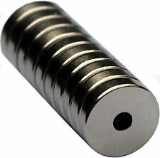 10  Neodymium Magnets 1/2 x 1/8 x 1/8 inch  Ring N48