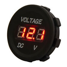 NEW 12V-24V Car Motorcycle LED Digital Display Voltmeter Waterproof Meter RED UK