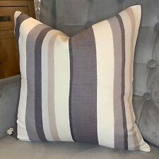 "John Lewis ""ALVAR"" Cushion Cover 18"" Contemporary irregular stripe Grey / Modern"