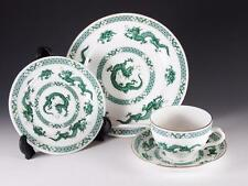HAMMERSLEY 4 PC PLACE SETTING - UNKNOWN GREEN DRAGON PATTERN
