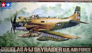 Tamiya 61073 1/48 Scale Model Aircraft Kit U.S.Air Force Douglas A-1J Skyraider