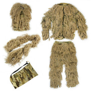 Upgrade Ghillie Suit Outdoor 3D Lifelike Super Lightweight Camouflage Clothing
