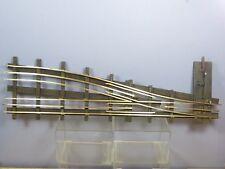 "VINTAGE BASSETT LOWKEMODEL No. 1 X  3 RAIL BRASS /WOOD SLEEPER  R/H POINT (22"")"