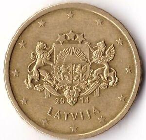 50 Euro Cent 2014 Latvia Coin KM#155