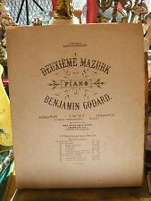 Partition Deuxième Mazurk pour Piano Benjamin Godard Music Sheet