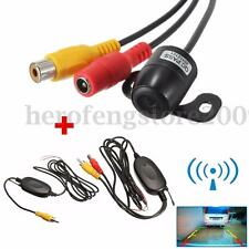 170° Wide Car Reverse Rear View Camera + RCA Video Wireless Transmitter Receiver