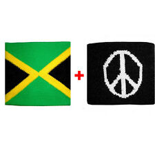 Couple wristbands Jamaica + pace sponge groups rock and flags