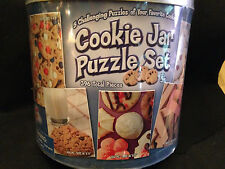 Cookie Jar Puzzle Set, 5 Puzzles of Your Favorite Cookies in Tin!