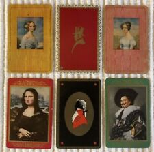 6 Vintage Playing Cards ~Period People ~MONA LISA/LAUGHING CAVALIER ~Extra Joker