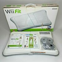 Nintendo Wii Fit Balance Board Bundle w/ Wii Fit & Wii Fit Plus *Original Box*