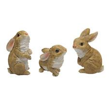 The Bunny Den Garden Rabbit Statues Multicolored Yard Garden Decoration Ornament