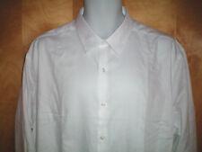 NWT NEW mens white VAN HEUSEN wrinkle free slim fit dress shirt $50 retail