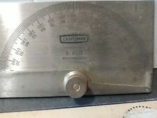 Vtg Simpsons Sears Craftsman Stainless Steel Protractor 9 4029 Draftermachinist