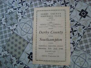 Derby v Southampton Feb 1946