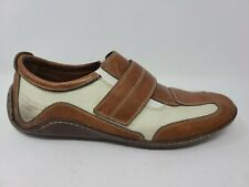 Cole Haan Air Infinity Size 12 Brown Leather Mens Elastic Casual Driving Loafer