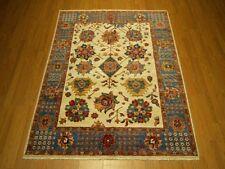 5 x 7 High Quality Handmade Vegetable Dye Handspun Fine Wool Afghan Ziegler Rug