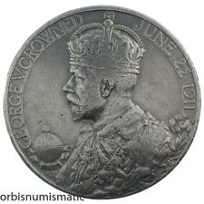 1911 OFFICIAL SILVER HISTORICAL MEDAL KING GEORGE V/ QUEEN MARY CORONATION Z821