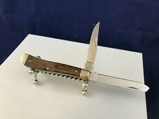 Schrade 940TW First Production Run trapper pocket knife with root beer handle