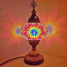 Turkish Marocain Table Lampe Coloré Clair Style Tiffany Verre Bureau Table Ce