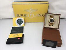 Men's BREITLING Bentley Motor Special Edition 18K Yellow Gold Watch; # K25362