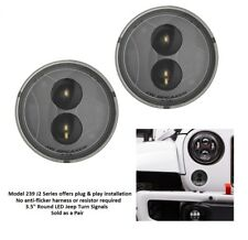 """JW Speaker 239 J2 Series 3.5"""" Round LED Front Turn Signals (Clear)"""