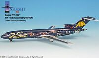 Inflight IF722018 ATA Boeing 727-200 25th Annv N772AT Diecast 1/200 Jet Model