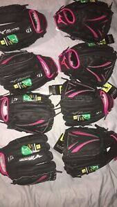 "NEW *10 Pair Bundle*Mizuno Finch Prospect Fastpitch Softball Mitt Glove 12"" LHT"