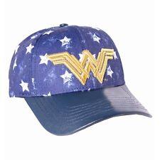 OFFICIAL DC COMICS - WONDER WOMAN SYMBOL STARS PATTERN STRAPBACK BASEBALL CAP