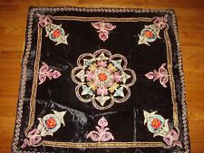 """38"""" SQUARE EMBROIDERED TABLECLOTH"""