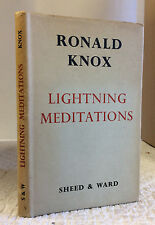 LIGHTNING MEDITATIONS- Ronald A. Knox 1959 Catholic, saints, virtues, 1st ed.